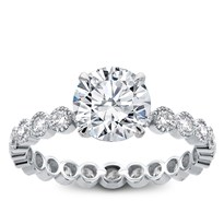 Vintage Bezel Set  Eternity Engagement Setting  , $1,510