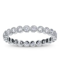 Vintage Style Eternity Band With Round Diamonds, $1,450