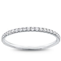 French Cut Pave 1/2 cttw Diamond Eternity Band 1.5mm | Adiamor