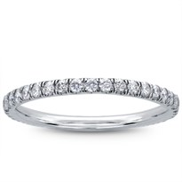 French Cut 1/2 cttw Diamond Eternity Band 1.7mm, $1,240