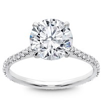 Diamond Eternity French Pave Engagement  Setting, $1,650
