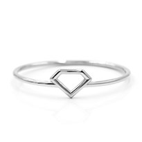 Diamond Shaped Cut Out Ring