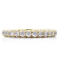 French Cut Pave 1 Cttw Diamond Eternity Band 2.5mm | R3030