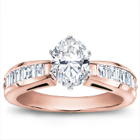 Channel Set Baguette Engagement Setting | R2887