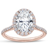 French Cut Halo Setting For Oval | R2965