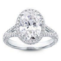 3 Row Pave Engagement Ring Setting | R2993