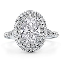 Double Halo Oval Engagement Ring Setting | R3115