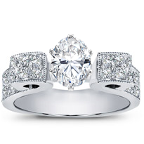 Pave Diamond Engagement Setting | R2551