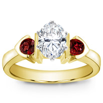Ruby Accented, Bezel Set Engagement Setting | R2492R