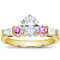 Pink Sapphire And Round Diamond Setting | R2618P