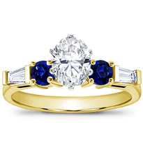 Sapphire And Round Diamond Setting | R2618S