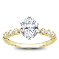 Vintage Bezel Set Diamond Engagement Setting | R2995