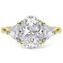 3 Stone Engagement Ring Setting 1cttw Trilliants | R3032