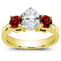 Ruby Accented Engagement Setting | R2616