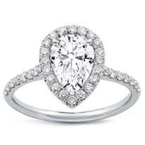 Pear Shape Diamond Halo Engagement Setting | R2963