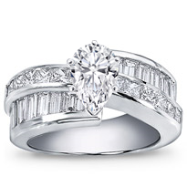 2 1/2 Ct. Tw. Princess-Cut And Baguette Setting | R1569