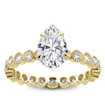 Vintage Bezel Set  Eternity Engagement Setting | R2976