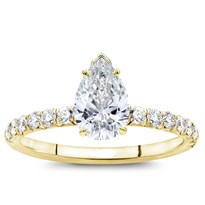 French Cut Diamond Basket Engagement Setting 2mm | R3043