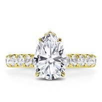 Large French Cut Basket Engagement Ring Setting | R3107