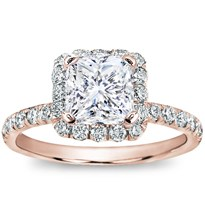 French Cut Halo Setting For Square Diamond | R2862