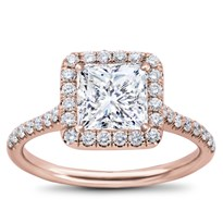 French Cut Halo For Square Diamond | R2961
