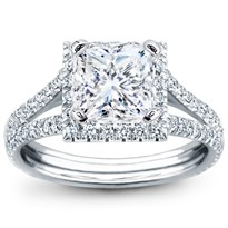 French Cut Engagement Setting For Square Diamond | R2899