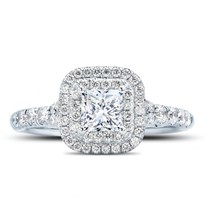 Princess Double Halo Engagement Ring Setting | R3111