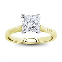 Tapered 2mm Solitaire Engagement Ring | R3161