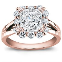Prong-Set Halo Diamond Engagement Setting | R2897