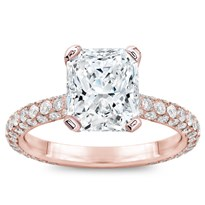 Custom Fit 3 Row Pave Engagement Setting | R2959