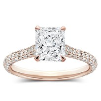 Custom 3 Row Micro Pave Basket Engagement Setting | R3077