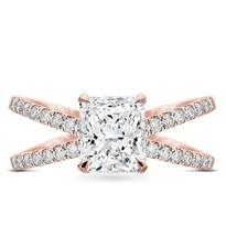 Diamond Criss Cross Engagement Ring Setting | R3095