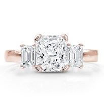 1/3 Ct. Tw. Emerald-Cut Diamond Accented Setting | R3160