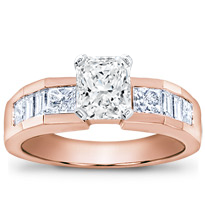 Baguette And Princess-Cut Engagement Setting | R2140