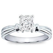 Ridged Solitaire Setting | R2779