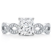 Twisted Diamond Band Basket  Engagement Setting | R3042