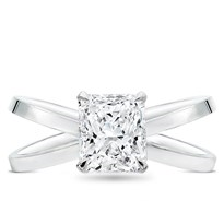 Criss Cross Engagement Ring Setting | R3093