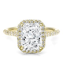 Two-Row Halo French Cut Engagement Setting | R3130