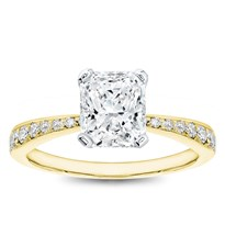 Perfect Pinch Pave Engagement Ring Setting | R3147