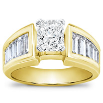 1 3/4 Ct. Tw. Baguette Engagement Setting | R1930