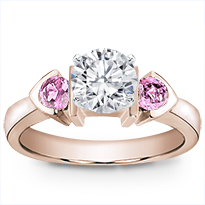 Pink Sapphire Accented, Bezel Set Setting | R2492P
