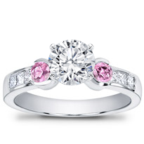 Pink Sapphire Channel-Set Engagement Setting | R2483P