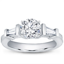 Tapered Baguette Engagement Setting | R2237
