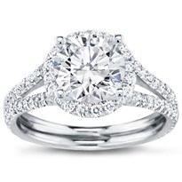 French Cut Engagement Setting For Round Diamond | R2898