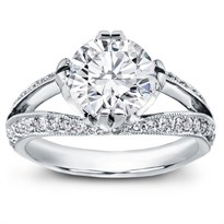 Pave Set Tulip Engagement Setting | R2919