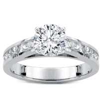 Princess Cut Diamond Cathedral Setting | R2978