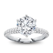 Pave Engagement Rings And Ring Settings Adiamor