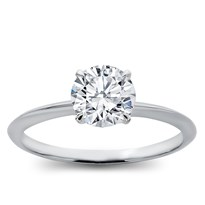 Knife Edge Platinum Basket Engagement Ring Setting | R3162