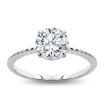 Rope Twist Engagement Ring Setting | R3168