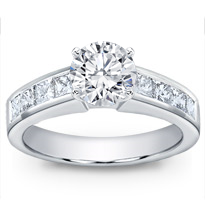 Princess Cut Channel-Set Engagement Setting | R2510